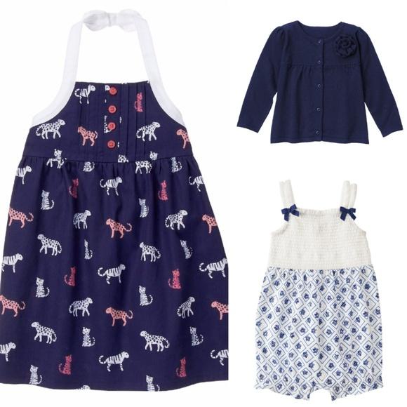 Gymboree Other - Gymboree Dress Romper Cardigan Baby Girl 6-12  Lot